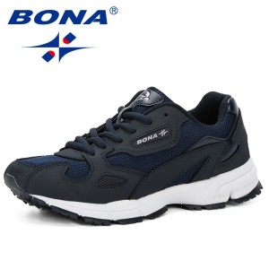 BONA 2019 Spring Autumn New Style Women Sneakers Shoes Outdoor Trendy Cow Split Mesh Casual Shoes Female Flats Comfy Ladies Shoe