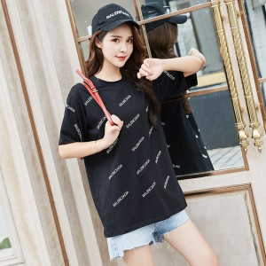 ROYYNA New Sweet Style Women Suits Modal Half Printed Letter O-Neck Regular Zipper Above Knee Comfortable Lady Summer Clothes