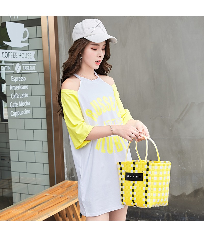 ROYYNA New Fashion Style Women Leisure Lantern Sleeve Printed Letter Knitted Casual Style Lycra Young Girls Free Shipping