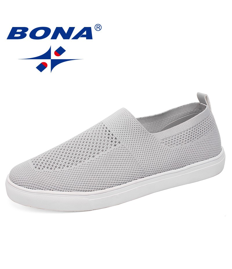 BONA New Fashion Style Men Casual Shoes Mesh Upper Slip-On Mesh Breathable Comfortable Men Shoes Light Soft Fast Free Shipping