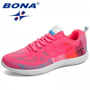 BONA New Hot Style Women Running Shoes Colorful Lace Up Athletic Shoes Women Outdoor Walking Jogging Sneakers Comfortable Retail