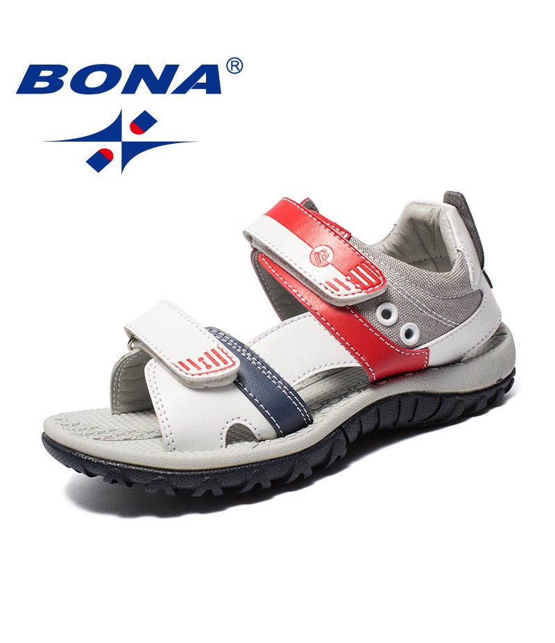 BONA New Elegant Design Children Sandals Mixed Color Boys Summer Shoes Hook & Loop Kids Beach Sandals Light Fast Free Shipping