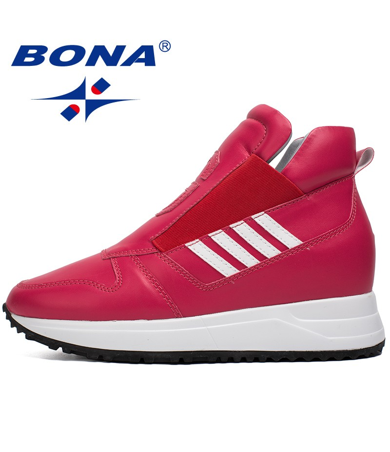 BONA New Classics Style Women Walking Shoes Elastic Band Sneakers Outdor Jogging Athletic Shoes Comfortable Fast Free Shipping