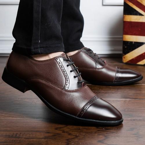 Men Dress Shoes Comfortable Flats Fast