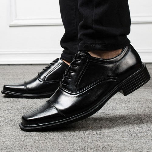 Style Men Formal Shoes Square Toe Men