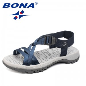 BONA New Classics Style Men Sandals Outdoor Walking Summer Shoes Comfortable Band Upper Men Slippers Soft Light Free Shipping