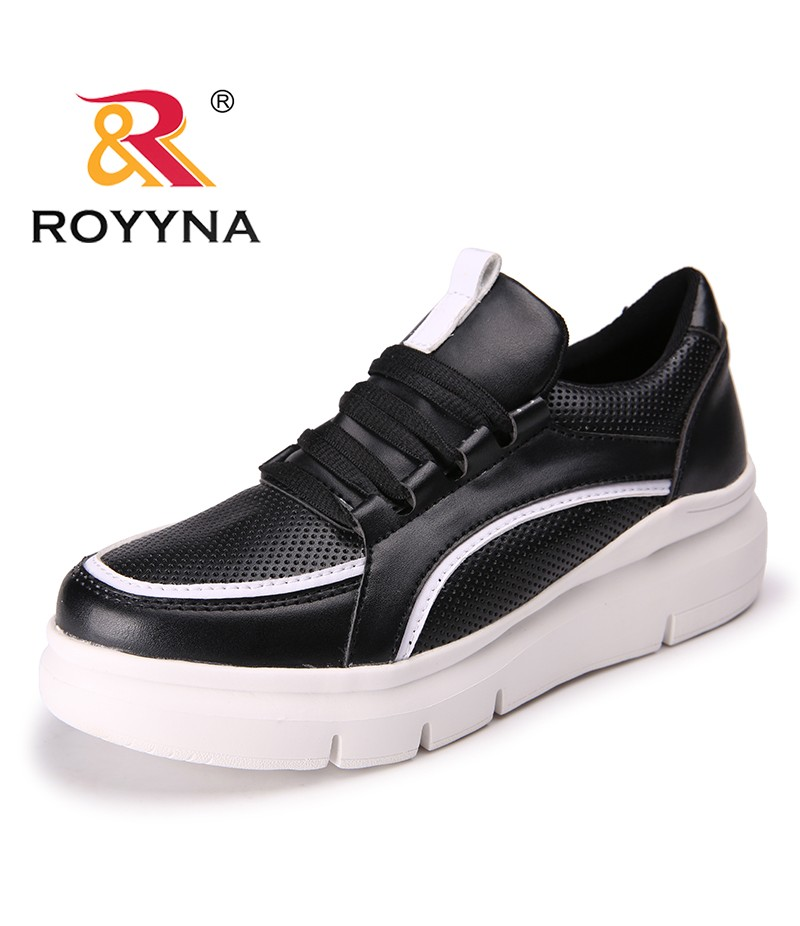 ROYYNA New Classics Style Women Flats Microfiber Women Outdoor Fashion Sneakers Lace Up Lady Leisure Shoes Light Free Shipping