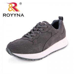 ROYYNA New Classics Style Women Sneakers Shoes Suede Femme Flats Lace Up Female Casual Shoes Mujer Outdoor Comfort Shoes