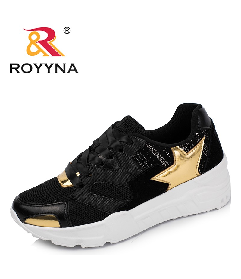 ROYYNA New Arrival Classics Style Women Sneakers Shoes Geometric Femme Flats Lace Up Lady Casual Shoes Chaussure Zapatos Mujer