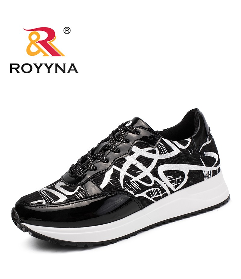 ROYYNA New Trendy Design Style Women Sneakers Shoes Lace Up Femme Casual Shoes Round Toe Lady Comfort Shoes Zapalillas Mujer