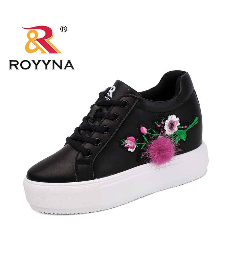 ROYYNA New Classics Style Women Sneakers Shoes Lace Up Femme Flats Flower Platform Trendy Design Lady Casual Shoes Free Shipping
