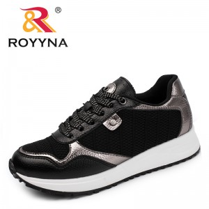 ROYYNA New Classics Style Women Sneakers Shoes Lace Up Feminimo Casual Shoes Microfiber Femme Flats Sapato Feminimo Zapato Mujer