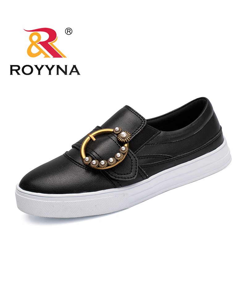 ROYYNA New Popular Style Women Sneakers Shoes Buckle Female Loafers Platform Lady Flats Slip On Chassure Femme Zapatos Mujer