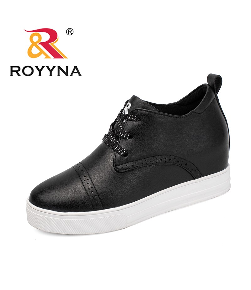 ROYYNA New Arrival Classics Style Women Sneakers Shoes Lace Up Feminino Flats Height Increasing Mujer Comfort Shoes High Top