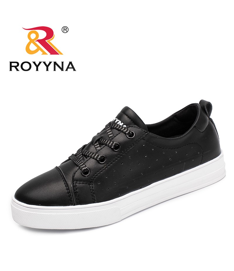 ROYYNA New Classics Style Women Sneakers Shoes Microfiber Femme Flats Platform Feminino Sapato Lace Up Lady Leisure Shoes