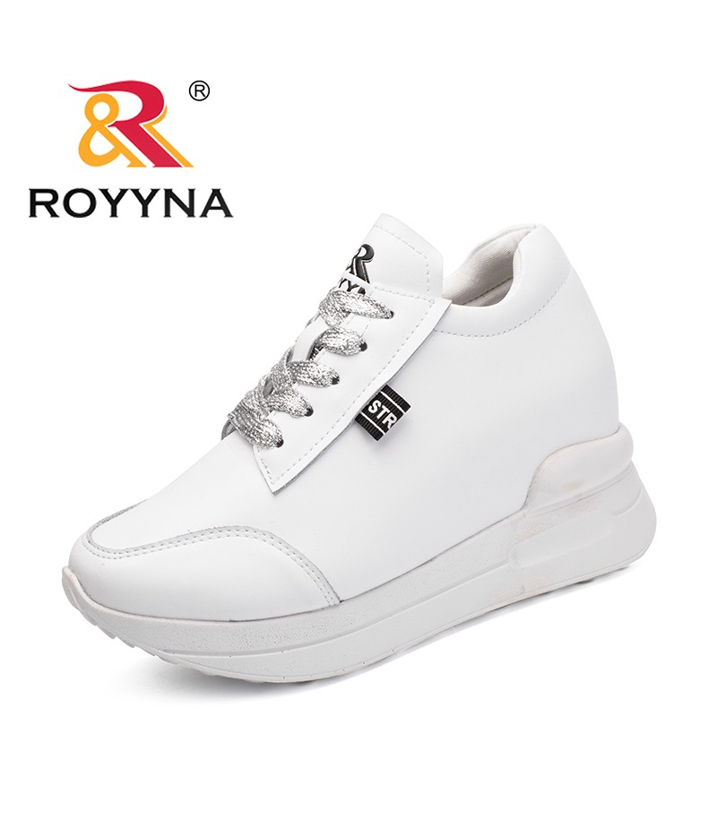 ROYYNA New Fashion Style Women Sneakers Shoes Microfiber Female Casual Shoes Height Increasing Femme Comfort Shoes Free Shipping