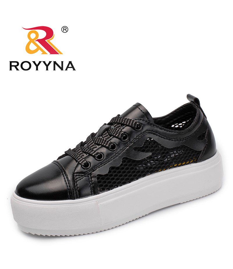 ROYYNA New Arrival Summer Style Women Sneakers Shoes Lace Up Femme Flats Platform Cutouts Lady Leisure Shoes Zapalillas Mujer