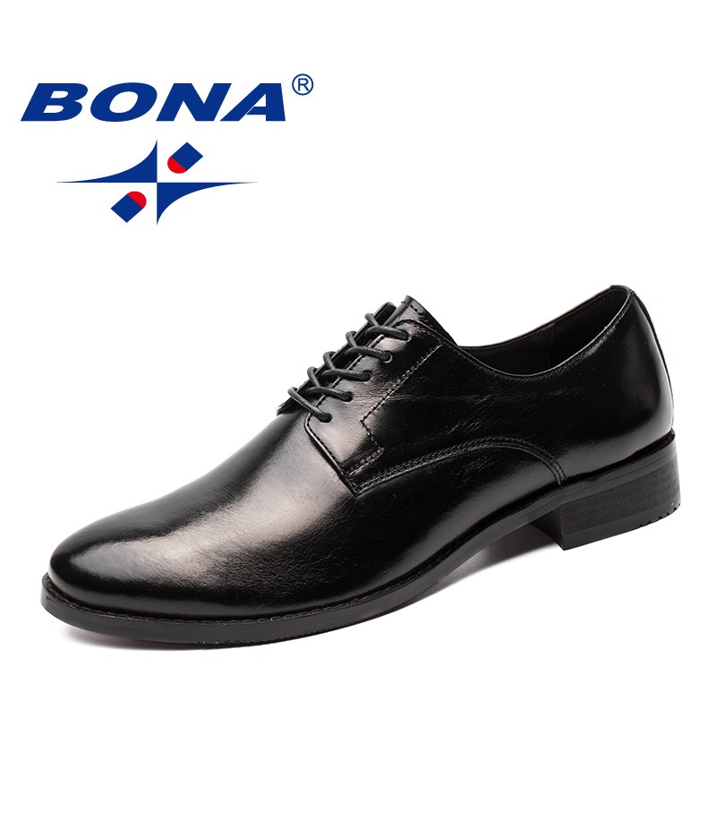 BONA New Arrival Classics Style Men Formal Shoes Microfiber Male Dress Shoes Lace Up Male Office Shoes Comfortable Free Shipping