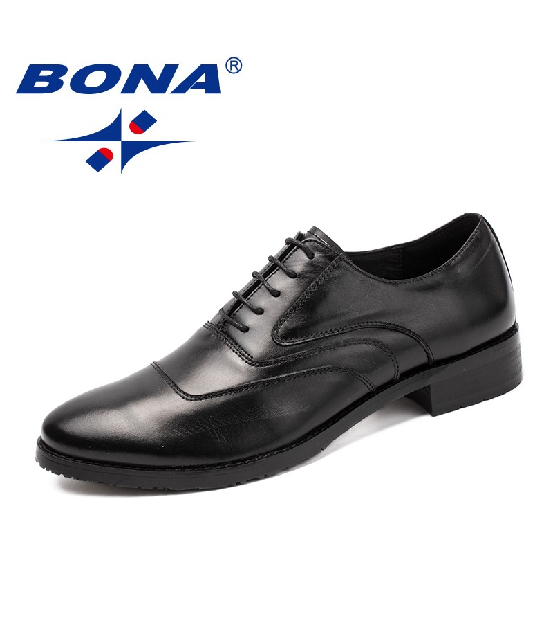 BONA New Arrival Classics Style Men Formal Shoes Lace Up Male Dress Shoes Genuine Leather Men Office Shoes Fast Free Shipping