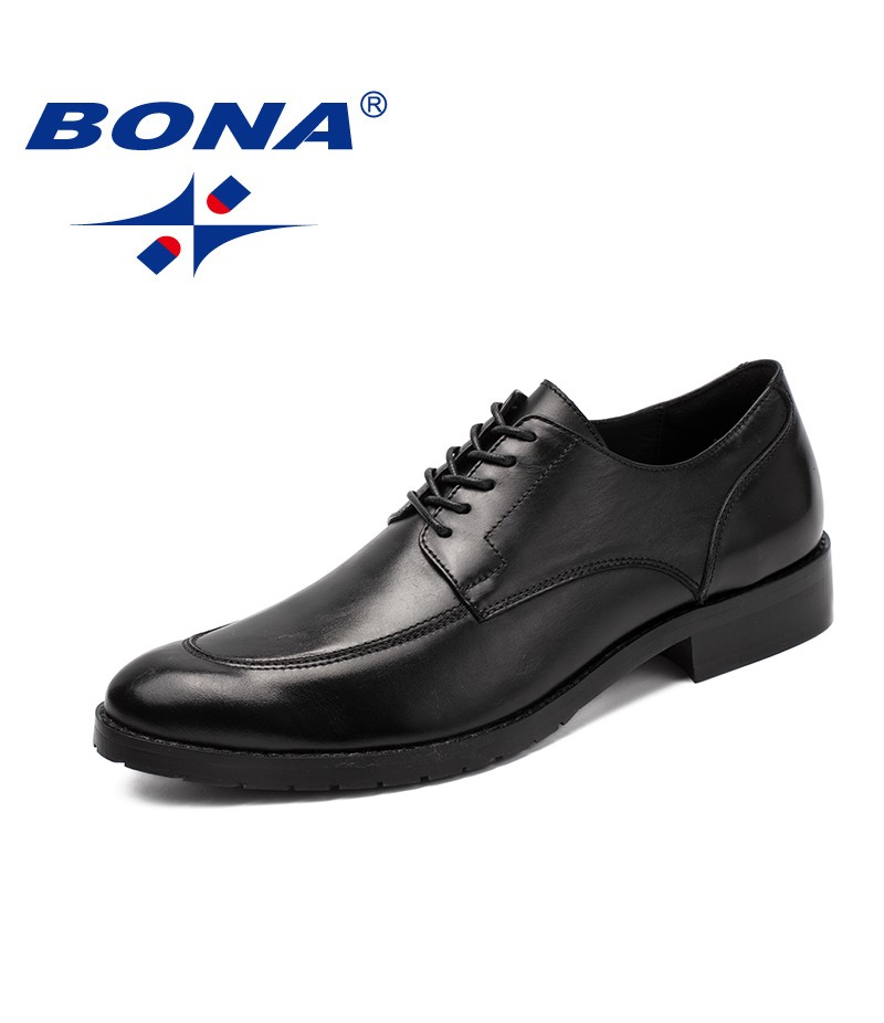 BONA New Classics Style Men Formal Shoes Genuine Leather Low Leather Men Office Shoes Round Toe Men Dress Shoes Free Shipping