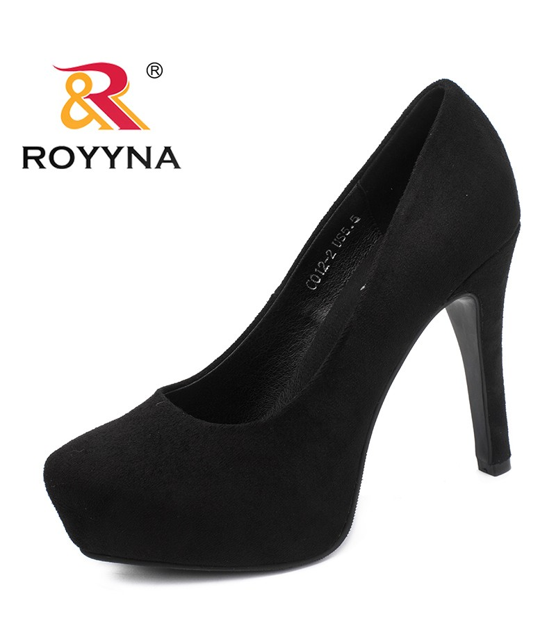 ROYYNA New Fashion Style Women Pumps Platform Femme Dress Shoes High Thin Heels Mujer Wedding Shoes Round Toe Lady Party Shoes