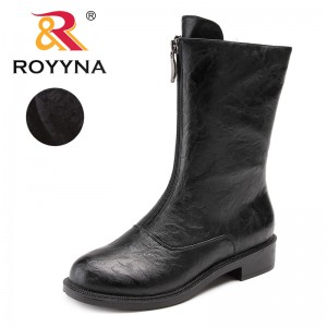 ROYYNA New Arrival Typical Style Women Boots Round Toe Women Winter Shoes Zipper Lady Mid-Calf Boots comfortable Free Shipping