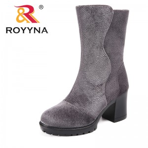 ROYYNA New Arrival Classics Style Women Boots Flock Women Winter Shoes Rount Toe Women Mid-Calf Boots Comfortable Free Shipping