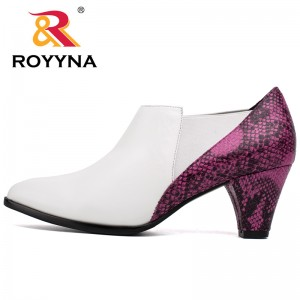 ROYYNA Fashion New Style Women Pumps Pointed Toe High heels Casual Shoes Women Serpentine Leather Upper Women Shoes Retail
