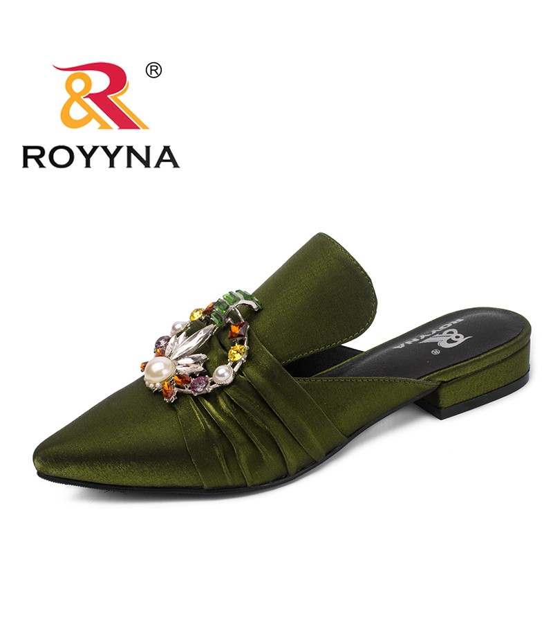 ROYYNA New Fashion Style Women Pumps Flower Women Slippers Pointed Toe Lady Casual Shoes Comfortable Light Soft Free Shipping