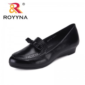 ROYYNA New Classics Style Women Pumps Round Toe Femme Dress Shoes Wedges Feminino Office Shoes Trendy Design Lady Wedding Shoes