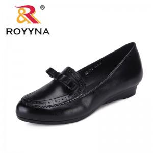 ROYYNA New Classics Style Women Pumps Round Toe Femme Dress Shoes Wedges Feminino Office Shoes Trendy Design Lady Wedding Shoes