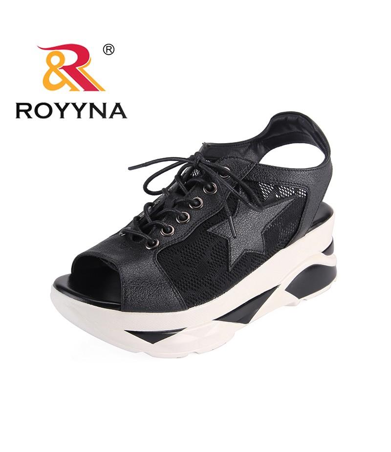 6681a18dfa8 ROYYNA New Arrival Popular Style Women Sandals Platform High Heels Femme  Summer Shoes Mesh Front ...