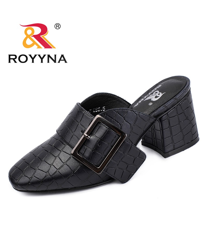 ROYYNA New Arrival Classics Style Women Slides Synthetic Women Slippers High Heels Lady Summer Shoes Comfortable Free Shipping
