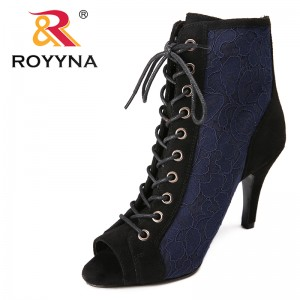 ROYYNA New Arrival Popular Style Women Boots Mesh Women Spring & Autumn Shoes Lace Up Lady Ankle Boote Comfortable Free Shipping