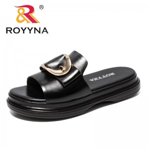 ROYYNA New Arrival Popular Style Women Slippers Microfiber Platform Femme Summer Shoes Buckle Lady Sandals Fast Free Shipping