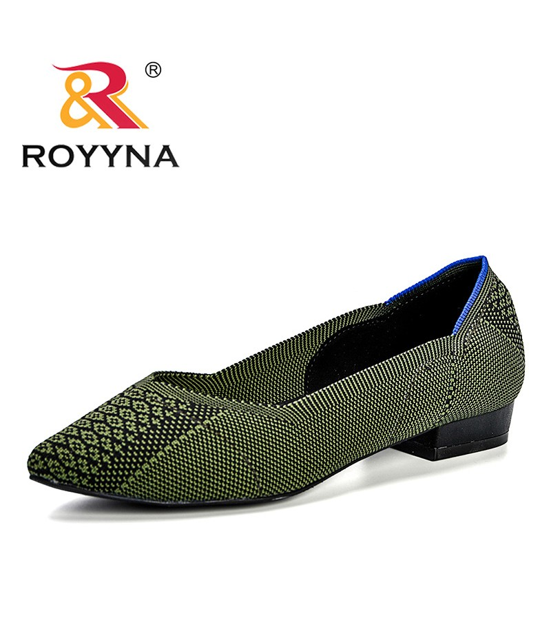 ROYYNA New Fashion Design Style Women Pumps Fly-Knit Brogue Weave Carved Female Dress Shoes Breathable Comfortable Lady Shoes