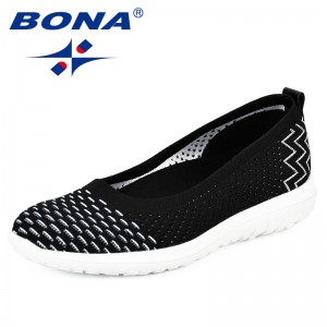 BONA New Style Shoes 2018 Fashion Tenis Feminino Light Breathable Mesh Shoes Woman Casual Shoes Sneakers Comfy Hombre Mujer Girl