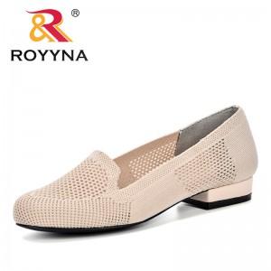 ROYYNA 2019 New Fashion Casual Shoes Women Summer Weaving Ventilation Fretwork Shoes Feminimo Lower Heels Slip On Shoes Ladies