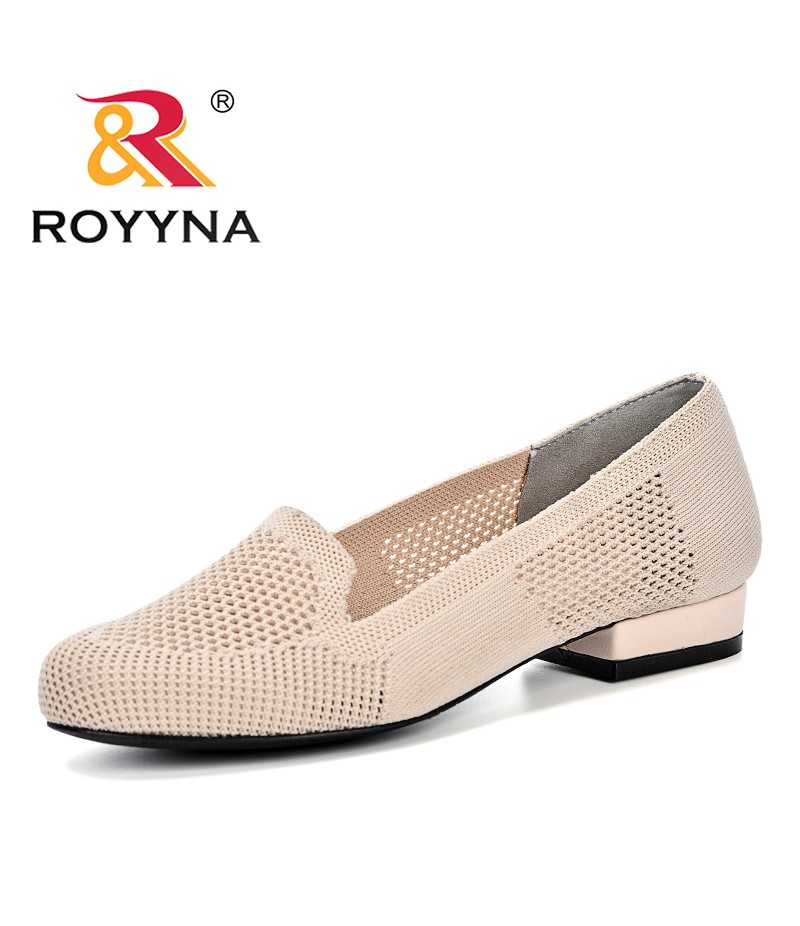ROYYNA 2019 New Fashion Casual Shoes Women Summer Weaving Ventilation Fretwork Shoes Feminimo Lower Heels Slip On Shoes Ladies