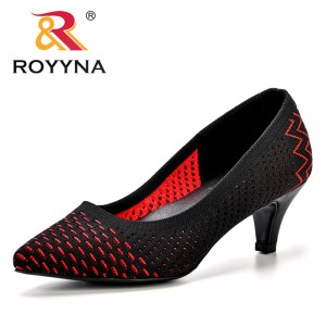 ROYYNA 2018 Heels Women Pumps Flying Weaving Pointed Toe Shallow Fashion Heels Shoes Women's Wedding Shoes Comfortable Trendy