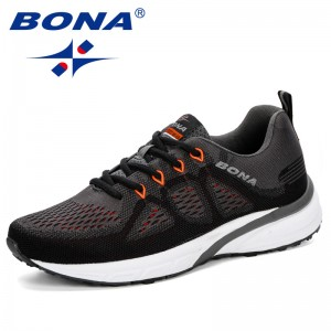 BONA Chinese Shoes manufacture  2019 Sneakers Men Shoes Sport Mesh Trainers Lightweight Baskets Femme Running Shoes Fly-Knitting Outdoor Athletic Shoes Men