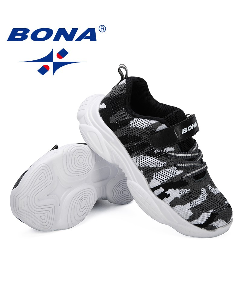BONA 2019 Spring/Autumn Children Shoes Boys Sports Shoes Fashion Casual Breathable Outdoor Kids Sneakers Mesh Air Girls Shoes