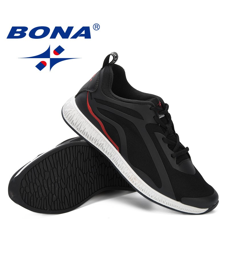BONA 2019 Mesh Running Shoes Breathable Jogging Trainers Man Sneakers Shoes Sports Shoes Men Outdoor Walking Shoes Comfortable