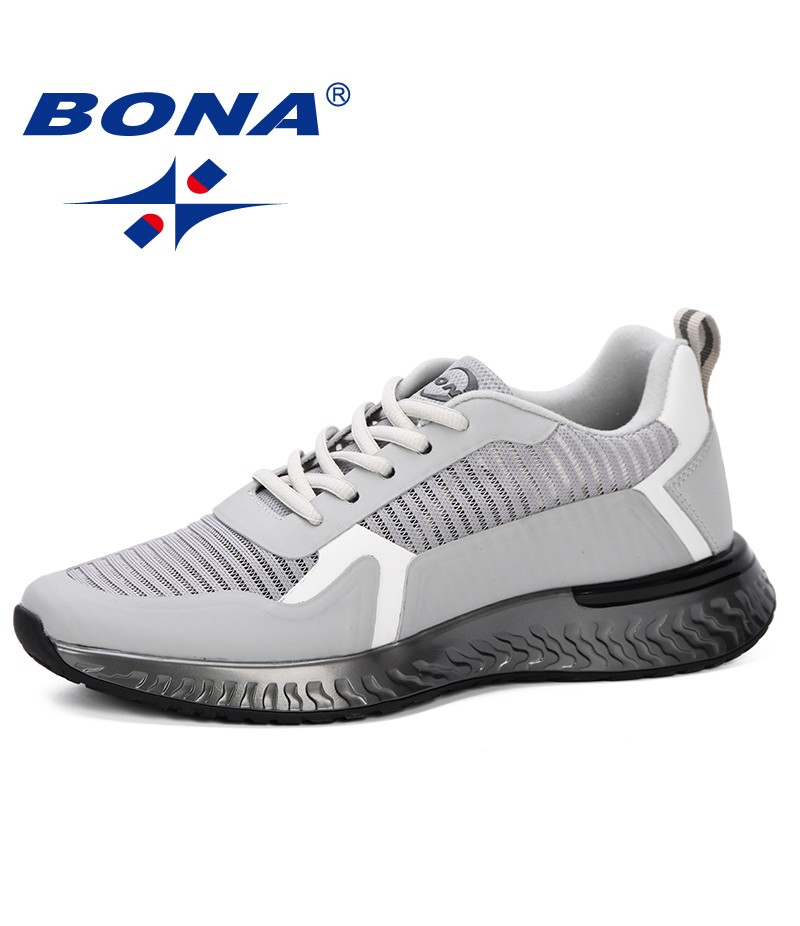 BONA 2019 New Popular Fashion Krasovki Men's Casual Shoes Male Sneakers Lightweight Breathable Shoes Tenis Masculino Adulto Man