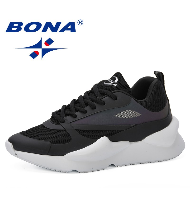 BONA 2019 New Popular Air Mesh Women Casual Shoes Women Sneakers Shoes Fashion Lace Up Flat Outdoor Shoes Ladies Tenis Feminino