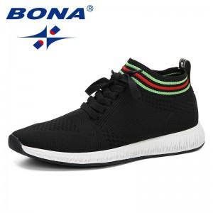 BONA 2019 New Popular Style Men Sneaker Summer Mesh Shoes Adult Weaven Shoes Male Casual Shoes Light Soft Leisure Footwear Man