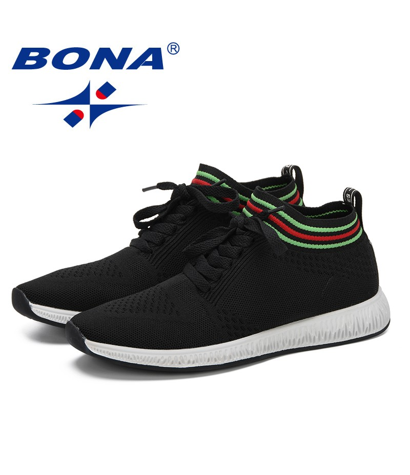 BONA 2019 New Popular Style Men Sneaker Summer Mesh Shoes Adult Weaven Shoes Male Casual Shoes Light Soft Leisure Footwear Man