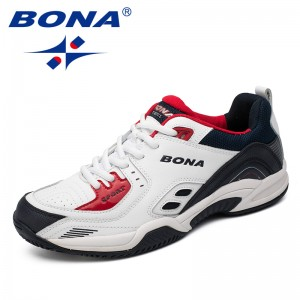 BONA Chinese Shoes manufacture  Men Tennis Shoes Outdoor Jogging Sneakers Lace Up Men Athletic Shoes Comfortable Light Soft Free Shipping