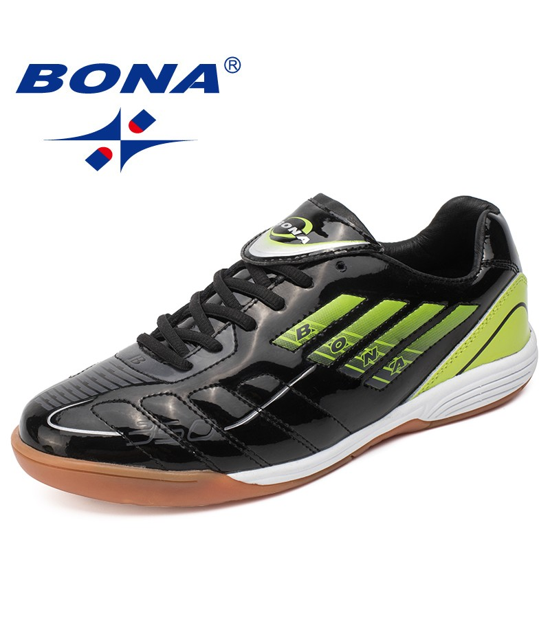 BONA New Typical Style Men Soccer Shoes Lace Up Action Leather Professional Men Football Shoes Trainning Sneakers Free shipping