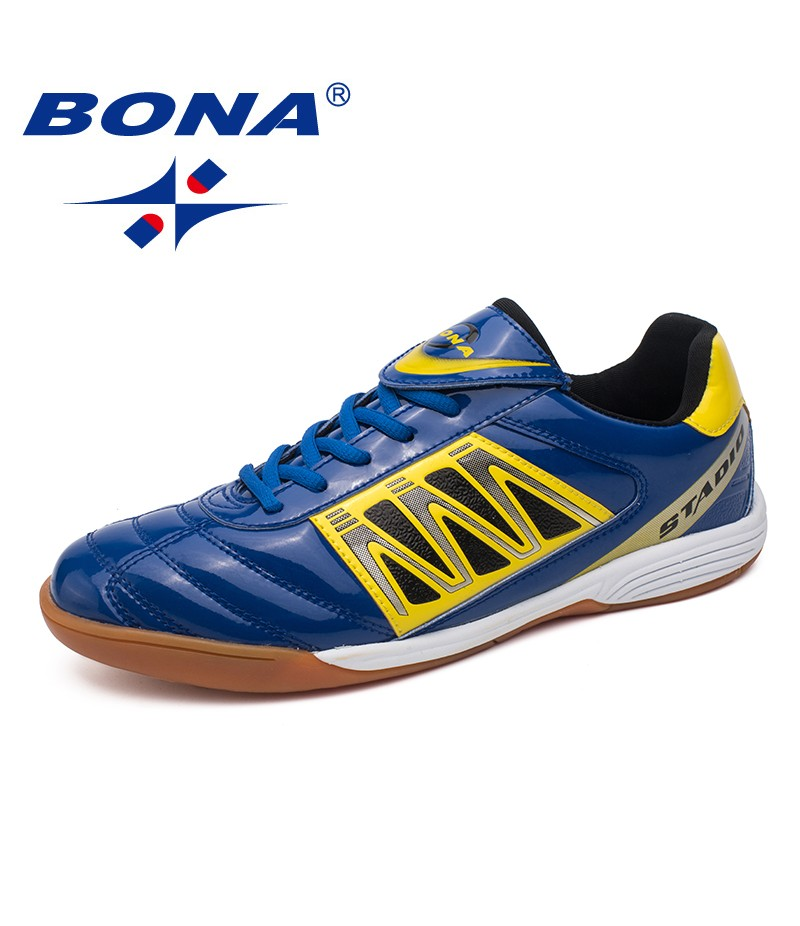 BONA New Classics Style Men Soccer Shoes Lace Up Men Professional Trainer Football Shoes Outdoor Jogging Sneakers Free Shipping